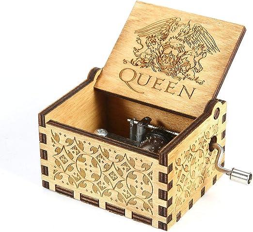 FOONEE Queen Music Box, Caja De Música De Madera Clásica Hecha A ...