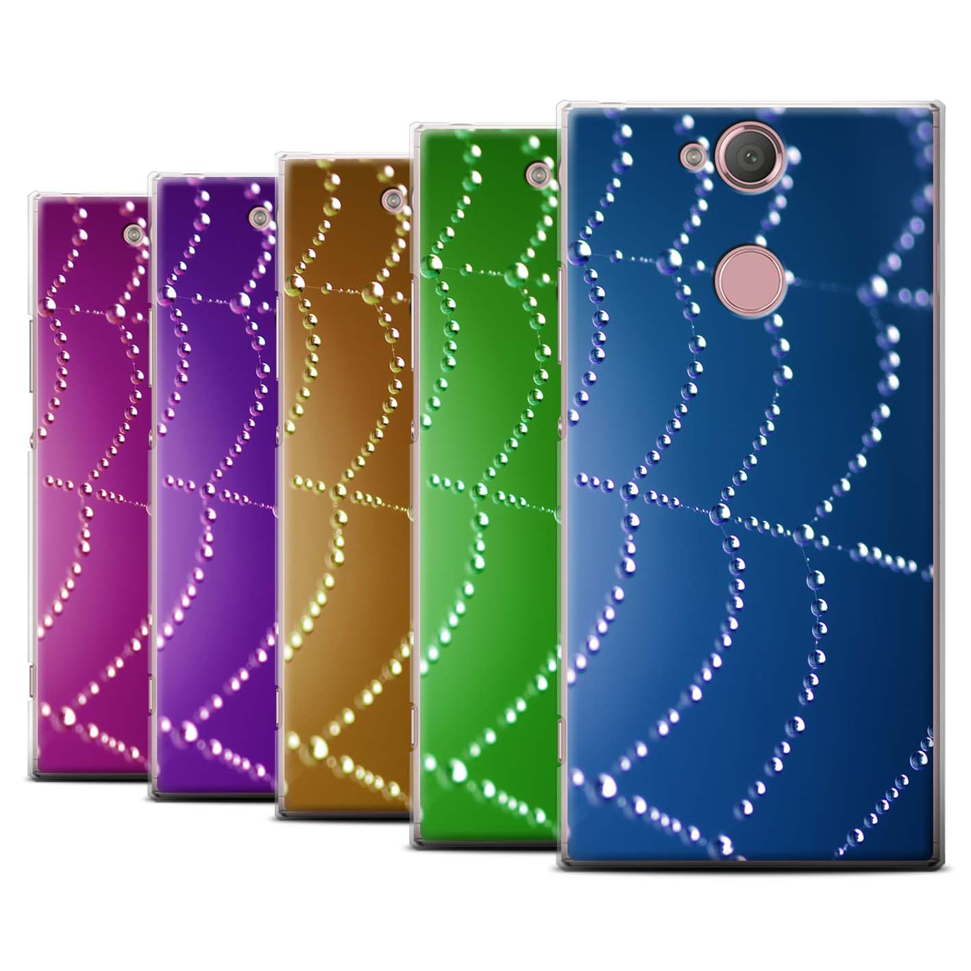 STUFF4 Phone Case/Cover for Sony Xperia L2/Pack (7 pk)/Spider Web Pearls Collection