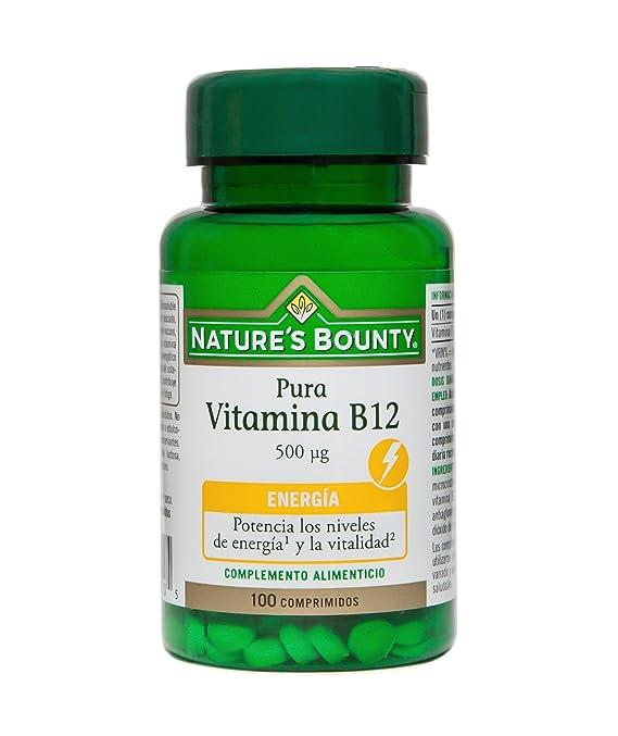 Natures Bounty Vitamina B12 500 Μg - 100 Comprimidos: Amazon.es: Salud y cuidado personal
