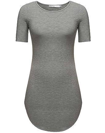 79d9967d57b Women s Summer Short Sleeve Slim Fit Tshirts Mini Dresses Juniors Dress  Tunic Top at Amazon Women s Clothing store