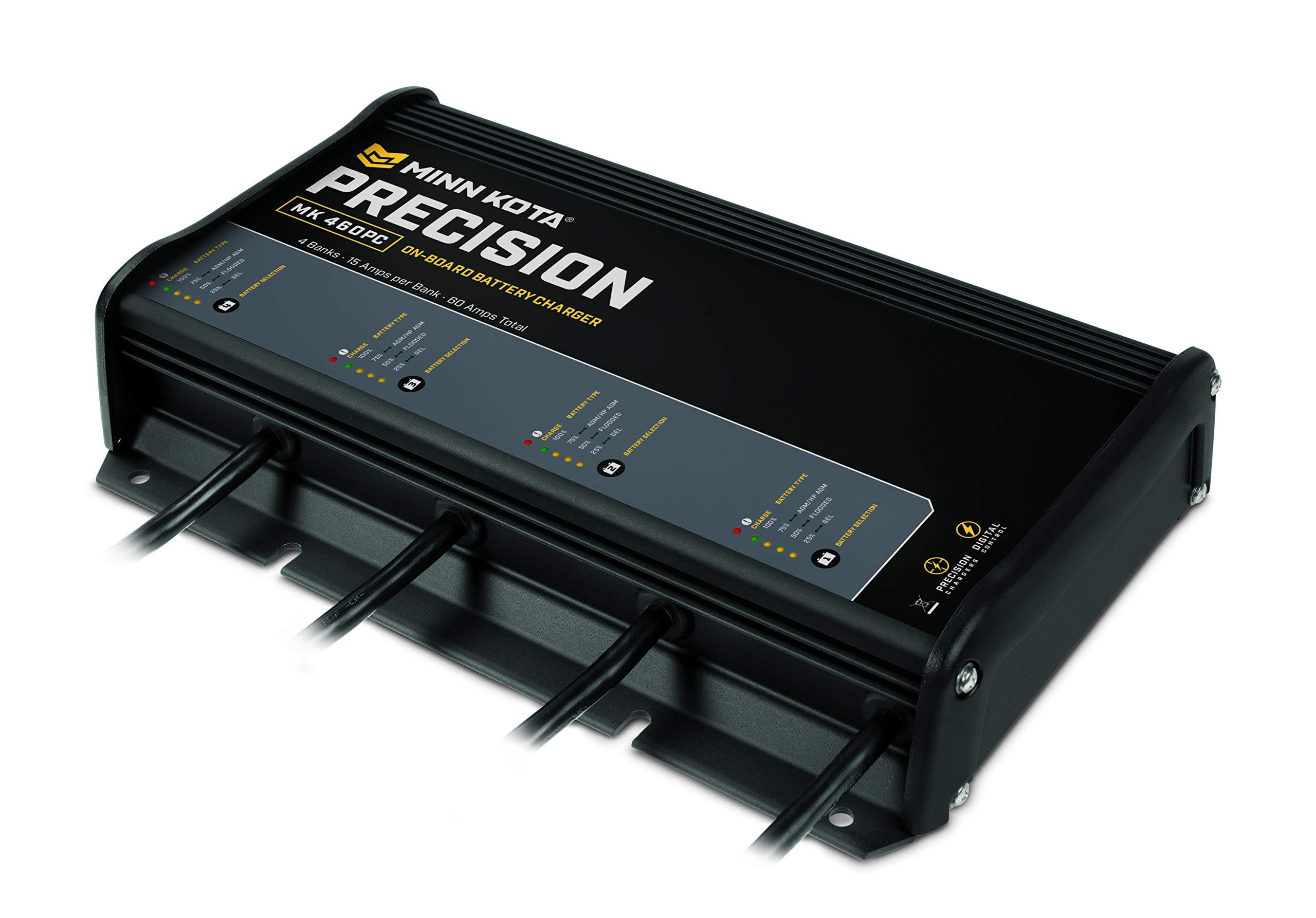 Minn Kota 1834600 Precision On-Board Charger, MK 460pc (4 Bank x 15 Amps) by Minn Kota