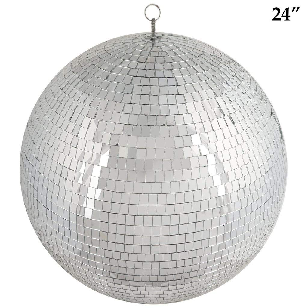 Efavormart 24'' Groovy Glass Mirror Disco Ball Party Decoration for Wedding Event Birthday Party by Efavormart.com (Image #4)