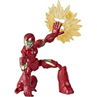 Marvel Avengers Bend and Flex-actiefiguur, flexibele Iron Man-figuur van 15 cm, met blastaccessoire, voor kinderen vanaf…