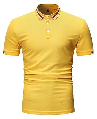 Hombre Poloshirt Manga Corta Verano Polos Camiseta Moda Deportiva ...