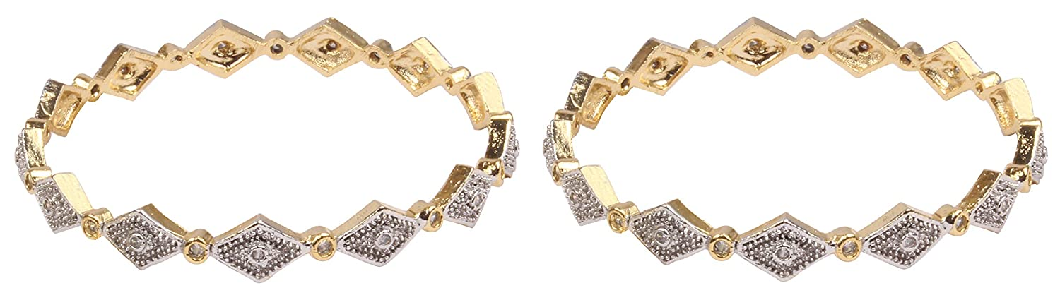 Shiv/_Collection Bollywood Fashion Style Gold Plated Indian Bangles CZ Stone Bracelet Party wear Jewellery
