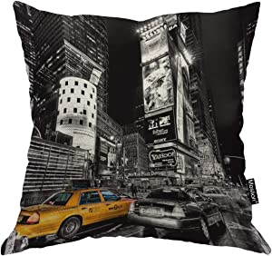 Moslion New York Pillow Decorative Throw Pillow Cover Vintage New York City Square Cushion Cover Standard Pillow Cases for Men Women Boys Girls Home Sofa Bedroom Livingroom 18