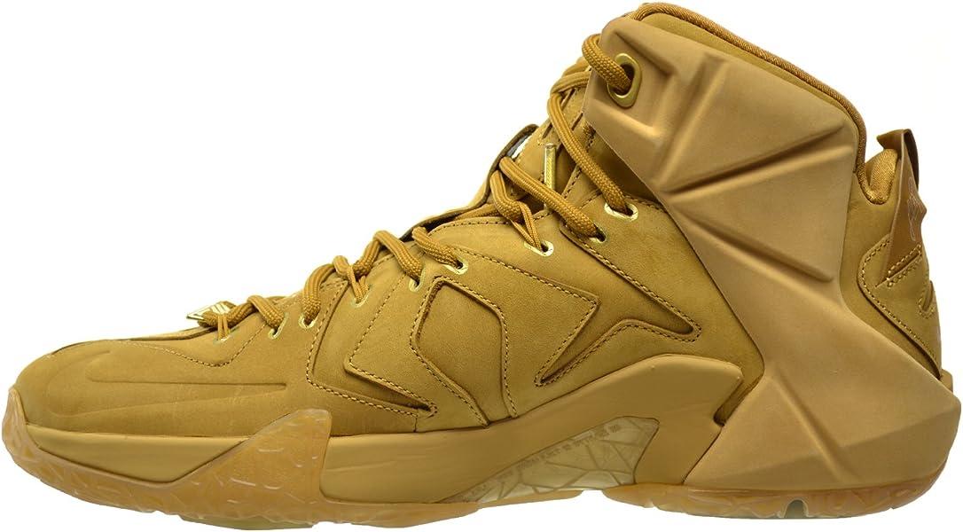 sale retailer e7733 6bbcb Nike Lebron XII EXT QS Men s Shoes Wheat Metallic Gold-Wheat 744287-700.  Back. Double-tap to zoom