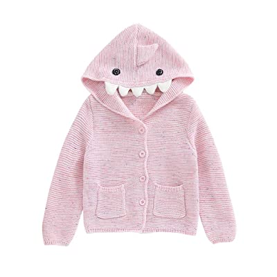WUAI Toddler Baby Boys Girls Knit Cardigan Sweaters Long Sleeve Button Fall Winter Hoodis Coat: Clothing