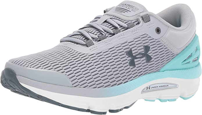 Under Armour Charged Intake 3 Sneakers Laufschuhe Damen Grau/Türkis