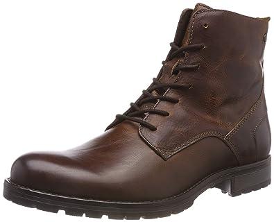 ec891ca8133726 JACK   JONES Herren JFWORCA Leather Boot Cognac NOOS Klassische Stiefel