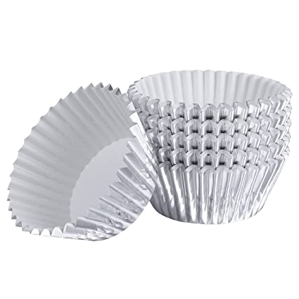 Healifty Envoltorios de magdalenas 100 piezas Aluminio engrosado Estuche para moldes de magdalenas Moldes para muffins