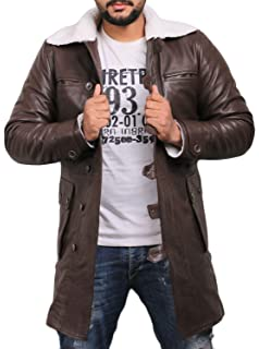 0297848b3e44 Laverapelle Men s Bane Genuine Distressed Leather Shearling Coat - 1502848