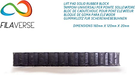 Kit 4 Gummiauflagen Gummiklotz Gummiblock 160x120x20 Mm Für Hebebühnen Auto