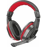 Trust Ziva - Auriculares Gaming Over-Ear con micrófono, Color Negro