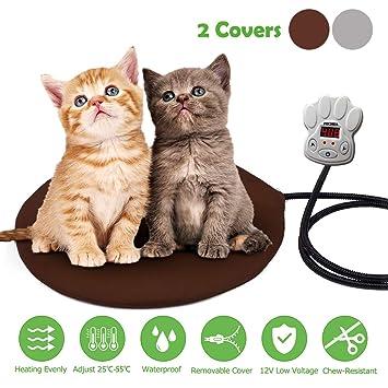 Fochea Cojín de Calefacción para Mascotas 15W Manta Eléctrica para Perros y Gatos con 7 Niveles