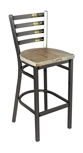 Reclaimed Wood Seat Bar Stool |