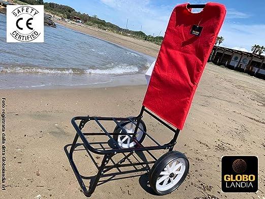 Inibire eccetera novità  GLOBOLANDIA SRL - Carrello con Ruote Color Rosso - Trolley Beach Carrellino  Porta Ombrellone e Oggetti per la Spiaggia e Giardino: Amazon.it: Giardino  e giardinaggio