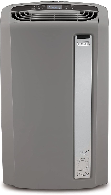 De'Longhi 3-in-1 Portable Air Conditioner, Dehumidifier & Fan + Arctic Whisper Quiet Mode, Remote Control, 700 sq. ft, Extra Large Room, 8000 (DOE) / 13500 BTU (ASHRAE), Light Gray, PACAN280G1W