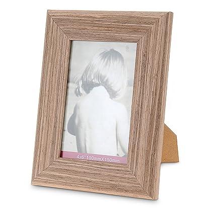 Marco para fotos Madera y cristal 21 x 16 cm: Amazon.es: Hogar