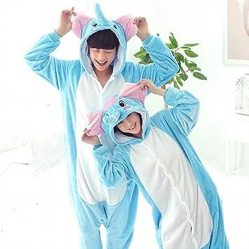 DEED Unisex Pijamas para Adultos - Peluche de una Pieza Cosplay Traje Animal Espesamiento de Invierno