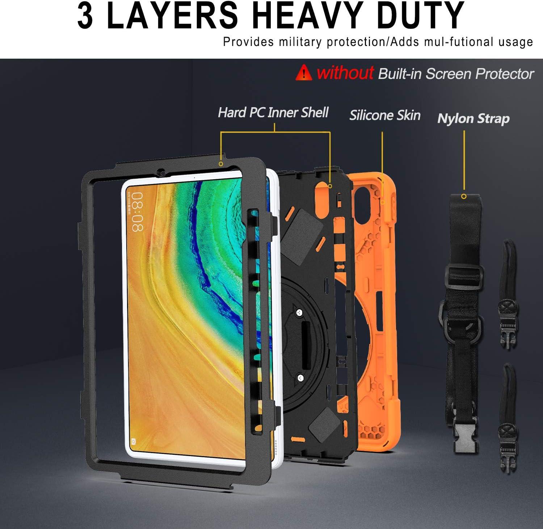 Handschlaufe YGoal H/ülle f/ür Huawei Matepad Pro - Schultergurt Schwarz Robuste Schutzh/ülle mit Fallschutz Case Cover f/ür Huawei Matepad Pro 10.8 Zoll