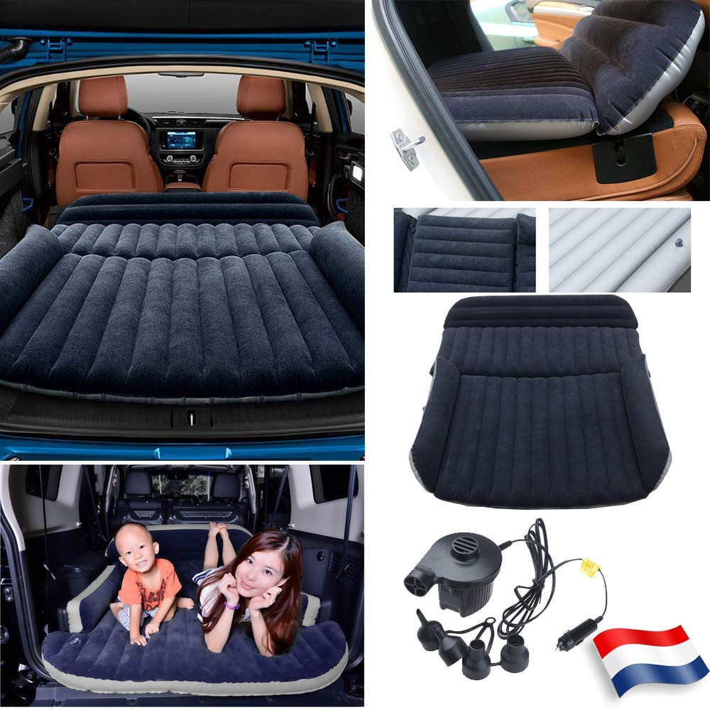 Sinbide Luftmatratze, aufblasbar, für Auto, SUV, Faltbar, mit der elektrischen Luftpumpe, Zum Aufblasen, für Schlaf- und Schlafcouch, für Auto, Zum Aufblasen, Ideal für Camping, Wandern