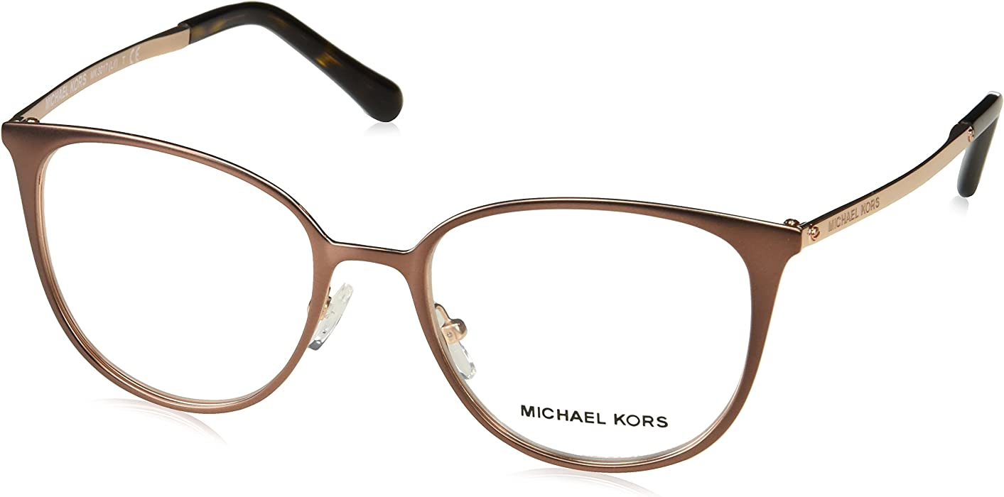 156f347ed7 Eyeglasses Michael Kors MK 3017 1188 SATIN BROWN ROSE GOLD-TONE at Amazon  Men s Clothing store