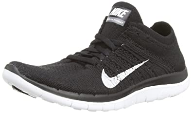 finest selection ae2f2 9bc28 Nike Free 4.0 Flyknit Women s Running Shoes, 6.5, Black white dark Grey