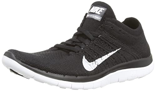 finest selection f2d88 4df92 Nike Free 4.0 Flyknit Women s Running Shoes, 6.5, Black white dark Grey
