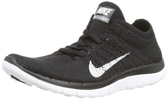 best website 92af7 4da2a Amazon.com   Nike Free 4.0 Flyknit Women s Running Shoes, 6.5,  Black white dark Grey   Road Running