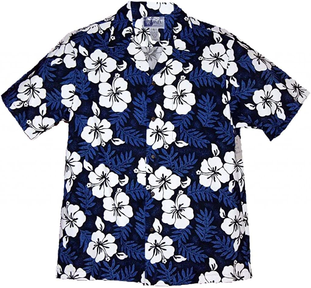 RJC Brand Tropical Hibiscus Men's Hawaiian Shirt