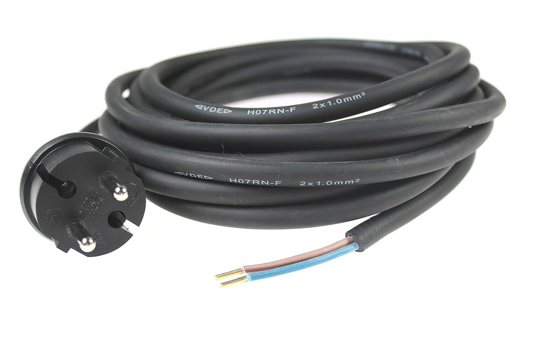 schwarz as-Schwabe 70552-5 m Bohrmaschinen-Anschlussleitung H07RN-F 2x1,0