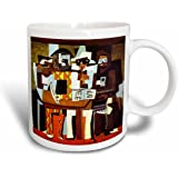 3dRose Picasso Painting Musicians n Masks Mug, 11-Ounce