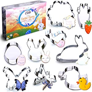 Spring Easter Cookie Cutter Set, 9 Piece, Stainless Steel