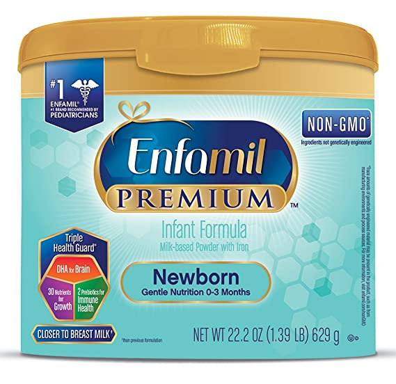Enfamil Newborn Baby Formula - 22.2 oz Powder in Reusable Tub: Amazon.es: Salud y cuidado personal