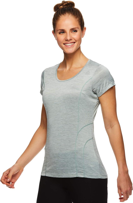 Reebok T-shirt à manches courtes pour femme Dyna Chinois Green Heather