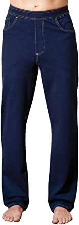 PajamaJeans Mens Jeans Stretch Denim - Men Elastic Waist Pants