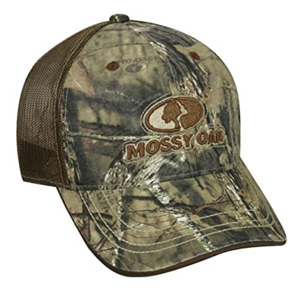 d94d170f10f Image Unavailable. Image not available for. Color  Mossy Oak Camo Front Logo  Hunting Hat with Mesh Back ...