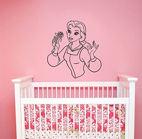 Disney Wall Decal Princess Belle Sticker Beauty And The Beast Movie - Beautiful-wall-stickers-to-decorate-your-house