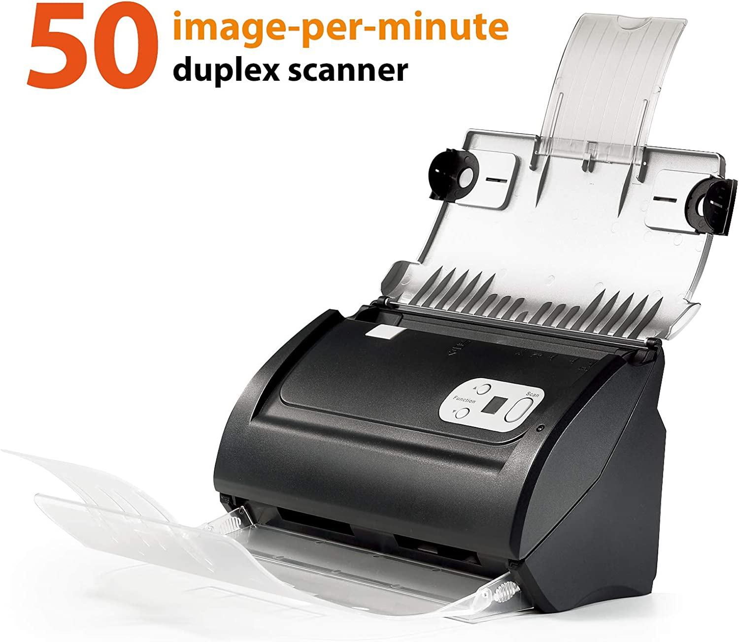 Plustek PS186 High Speed Document Scanner, with Auto Document Feeder (ADF). For Windows 7 / 8 / 10