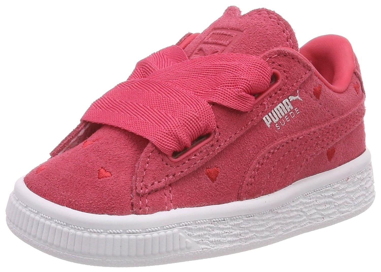 Puma Mädchen Suede Heart Valentine Inf Sneaker, Schwarz Black Black, 25 EU