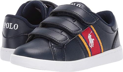 Polo Ralph Lauren Quigley-EZ Zapatillas para niño pequeño, Negro ...