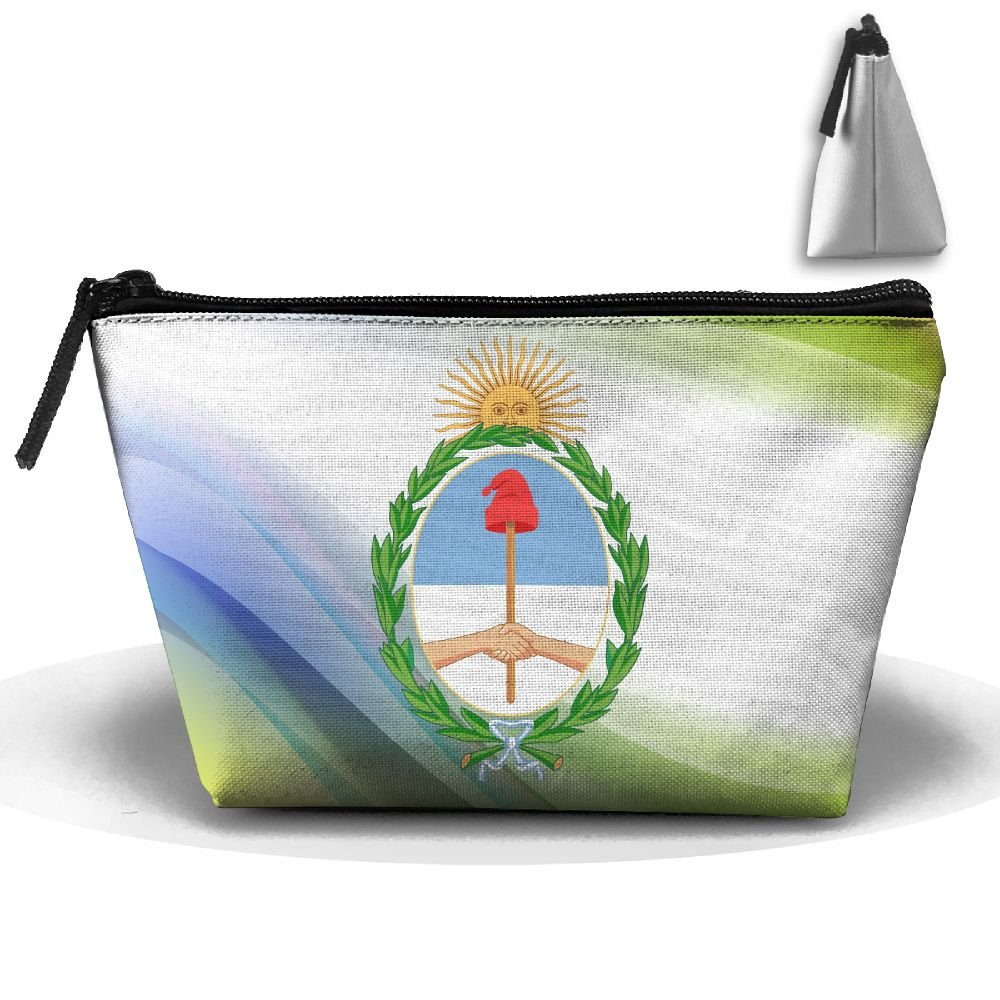 Simoner Coat Of Arms Of Argentina Large Capacity Storage Bag Makeup Package Trapezoidal