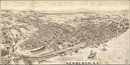 Newburgh New York Map.Amazon Com 1900 Map Of Newburgh New York Newburgh N Y Posters
