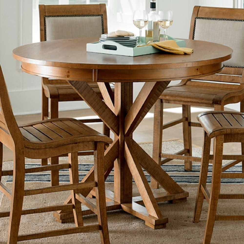 Progressive Furniture Willow Dining Table, Distressed Pine