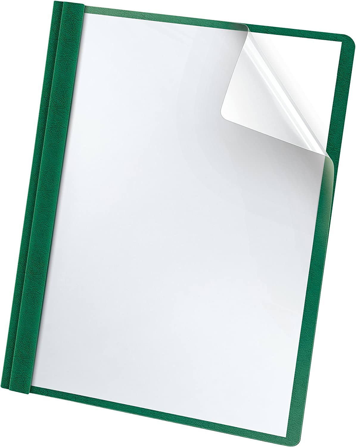 Oxford Premium Clear Front Report Covers, Dark Green, Letter Size, 25 per box (58817) : Business Report Covers : Office Products