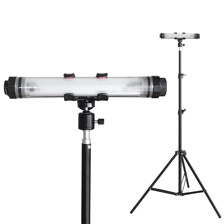 HORUSIS CHARGE LAMP CL-M 5500K 1灯式投光器スタンドセット ホルシス チャージランプ 完全防水 IP68 充電式防水投光器 広範囲灯 超高輝度LED(最大350LM 明るさ3段階 点滅モード付き) 完全防水(防塵防水性能IP68) 耐衝撃強力プラスチックPCカバー スマートフォン充電機能付き(モバイル充電器:バッテリー容量5200mAh USB出力最大2.1A) B075MW18TH 12960