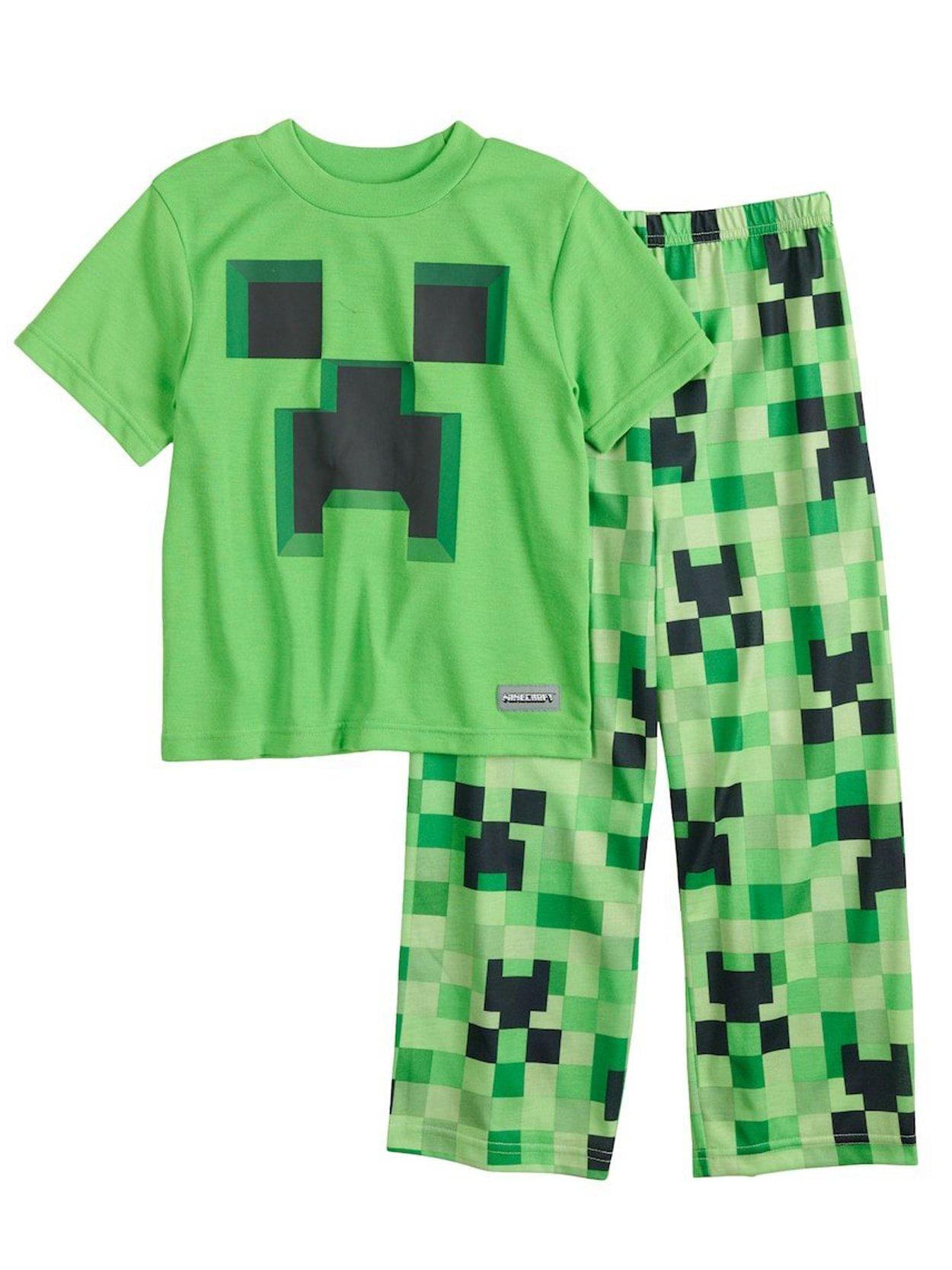 AME Minecraft Creeper Pajamas for Big Boys (10)