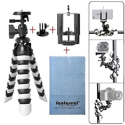 Trípode para cámara réflex digital y smartphone, 3 en 1, flexible ...