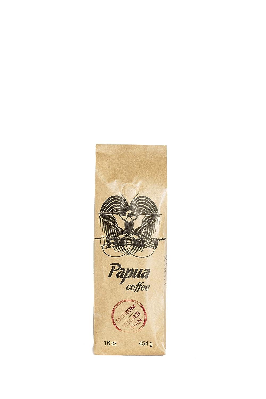 Papua Whole Bean Medium Roast Coffee (16 oz)